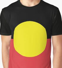 Australian Aboriginal Flag Graphic T-Shirt