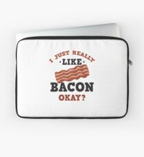 I Just Really Like Bacon Funny Quote T-Shirt Laptop Sleeve