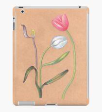 Vinilo o funda para iPad tulipanes botánicos de primavera