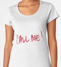 call me sticker Women's Premium T-Shirt