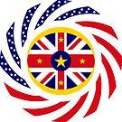 Niuean American Multinational Patriot Flag Series by Carbon-Fibre Media
