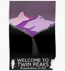Twin Peaks Travel Poster (Dusk) Poster