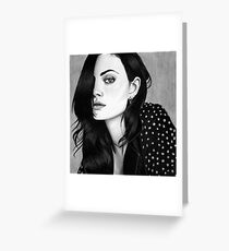 Phoebe Tonkin Drawing Greeting Card