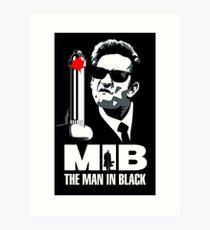 Johnny Cash - The Man In Black Art Print