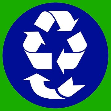 Recycling Symbol - 4 R's by Symbolical