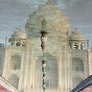Reflecting at the Taj Mahal... by Tash  Menon