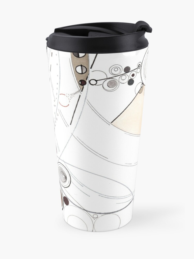 Alternate view of Field theories and particle motion - ink drawing Travel Mug