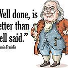 Benjamin Franklin by MacKaycartoons