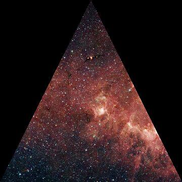 Orange Stars in a Triangle by Crampsy