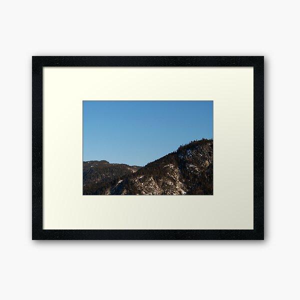 Mountain Skyline Framed Art Print