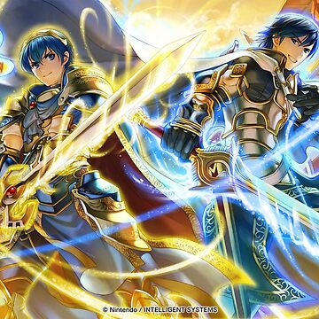 Marth and Chrome - Fire Emblem Cipher by Toshiyena