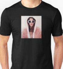 Girl with Cobain Sunglasses Slim Fit T-Shirt