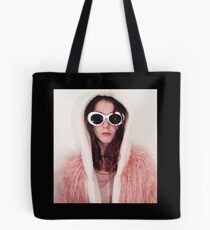 Girl with Cobain Sunglasses Tote Bag