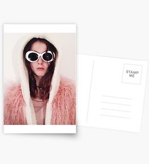 Girl with Cobain Sunglasses Postcards