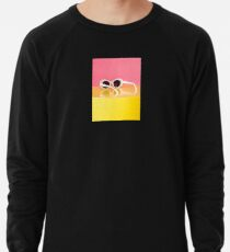 Retro White Oval Sunglasses Lightweight Sweatshirt