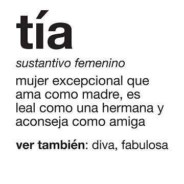 Tia Definition - Spanish Aunt Gift - Gift for Auntie by ShikitaMakes