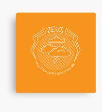 Zeus - greek god of the sky Canvas Print