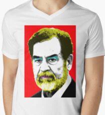 Saddam Monroe - Red Men's V-Neck T-Shirt