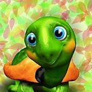 Green Turtle Baby 3D by BluedarkArt