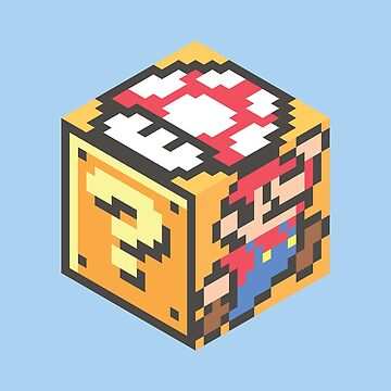 Super Mario 3D cube by petestyles