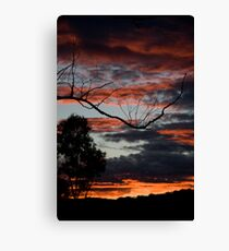 Fire & Sky Canvas Print