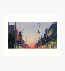 Studio Ghibli Anime Landscape Japan Art Print