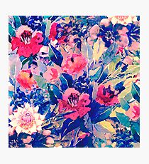 blue floral Photographic Print