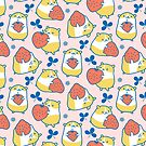 Hamsters with Strawberries by Zoe Lathey