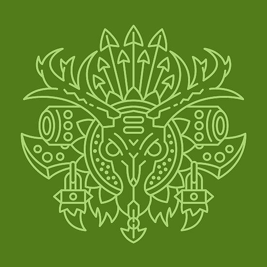 Jäger - Klassenwappen (Farbe) von dcmjs