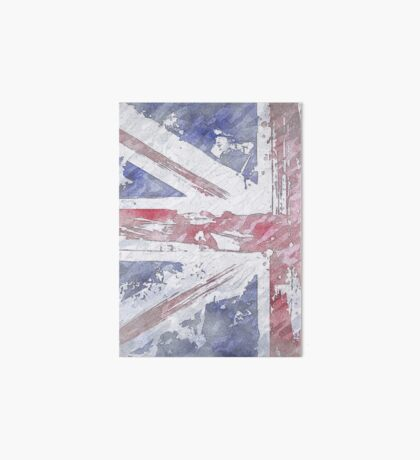 Rustic Union Jack Flag Art Board Print
