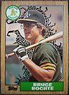 067 - Bruce Bochte by Foob's Baseball Cards
