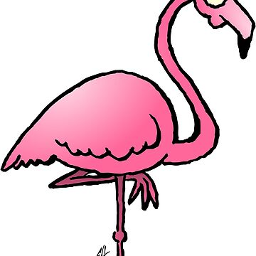 Pink flamingo by cardvibes