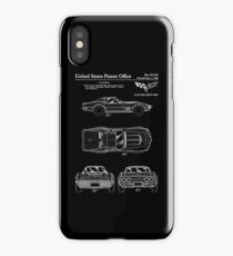 Corvette 1968 Patent White iPhone Case/Skin
