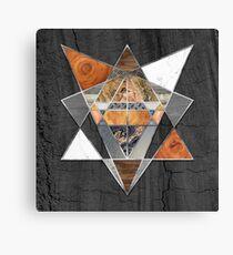 Rustic Geometry unusual Modern polygonal Urban Lodge art Canvas Print