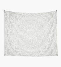 Mandala Soft Gray Tapestry