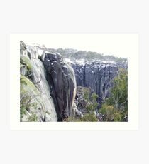 echo point in winter Art Print