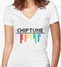 Chiptune Women's Fitted V-Neck T-Shirt
