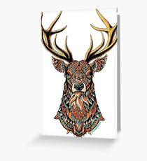Ornate Buck Greeting Card