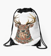 Ornate Buck Drawstring Bag