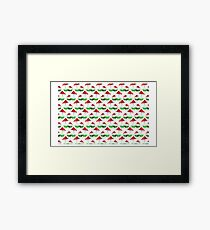 Toadstool red pattern Framed Print