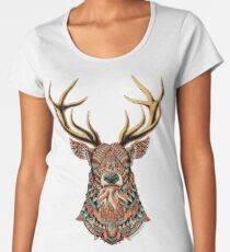 Ornate Buck Women's Premium T-Shirt