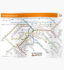 Stuttgart - Metro / Subway / u-bahn / s-bahn Map - Germany Poster