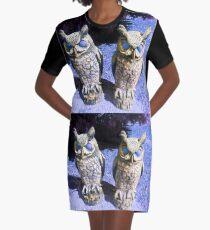 owl friends blue 04/06/17 Graphic T-Shirt Dress