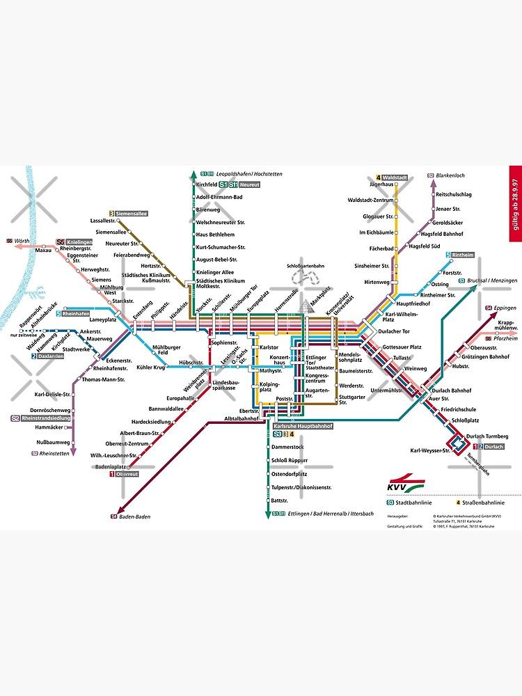 Map Of Germany Karlsruhe Baden.Karlsruhe Metro Subway U Bahn S Bahn Map Germany Photographic Print