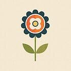 Retro Daisy - Orange and Cream by daisy-beatrice