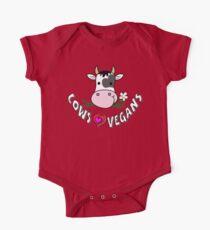 Cows Love Vegans - Happy Cows One Piece - Short Sleeve