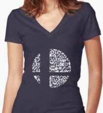 Brawl Women's Fitted V-Neck T-Shirt