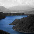 Waters of Lake Cuicocha by rhamm