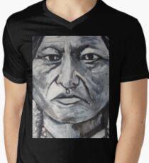 Trip-O-Vision Online Gallery Design 41: Sitting Bull Painting Mens V-Neck T-Shirt