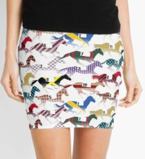 Off to the Horse Races Jockey Silks Pattern Mini Skirt